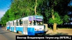 Трамвай в Евпатории. Иллюстрационное фото