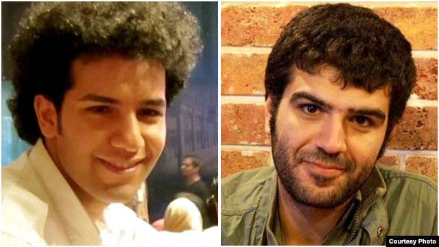 Milad Fadayi (left) and Soleiman Mohammadi were detained by Iran's security forces on January 26.