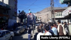 FILE: A demonstration in Kunar's provicial capital Asadabad.