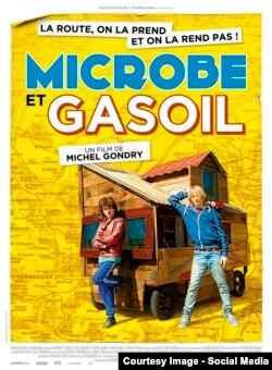 """Michel Gondry-nin """"Mikrob və benzin"""" filmin afişası."""