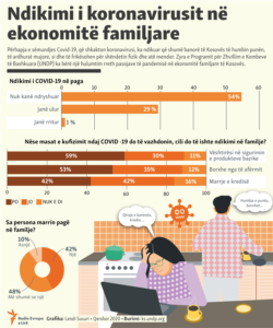Kosovo: Info graphic - The impact of COVID-19 on households in Kosovo.
