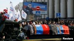 Похороны сепаратиста Михаила Толстых («Гиви»). Донецк, 10 февраля 2017 года