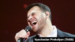 Emin Agalarov performs in Krasnogorsk on December 10