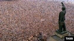 Azadlıq meydanında mitinq - 1989