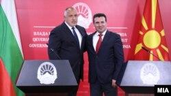 Архивска фотографија- премиерите Зоран Заев и Бојко Борисов на заедничка прес-конференција во Скопје, 1 август 2019 година