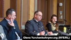Глава Nordic Ukraine Forum, доктор социологических наук Алина Зубкович (п) на дискуссии по Крыму в парламенте Швеции, 11 марта 2020 года