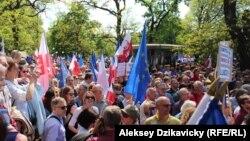 Опозиційна демонстрація у Варшаві, 7 травня 2016 року