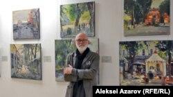 Алексей Уткин жеке көрмесінде. Алматы, 7 желтоқсан 2018 жыл