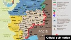 Ситуація в зоні бойових дій на Донбасі, 6 квітня 2017 року