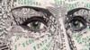 Латвийская художница делает портреты из долларов