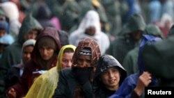 Идомени кыштагындагы качкындар. Греция