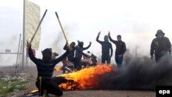 معترضان در استان انبار