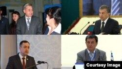Өзбекстандагы төрт партия көрсөткөн партия талапкерлер.