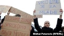 Protest studenata u Sarajevu, fotoarhiv