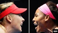Dy tenistet që paguhen më së miri në botë, Serena Williams (djathtas) dhe Maria Sharapova