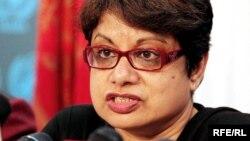 E dërguara speciale e OKB-së për fëmijë dhe konfliktin e armatosur Radhika Kumarasvami,