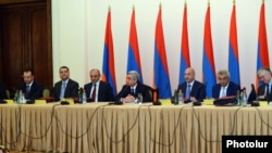 "Armenia -- President Serzh Sargsian at the meeting of the Board of trustees of ""Hayastan"" fund. 30May, 2013"
