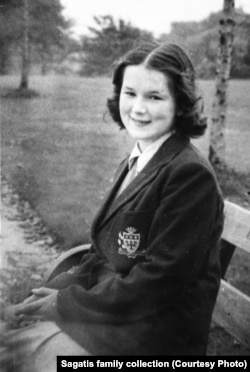 Zofia Sagatis in Manchester in 1953