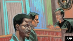 A courtroom drawing shows Ahmed Khalfan Ghailani during his arraignment in New York in June.