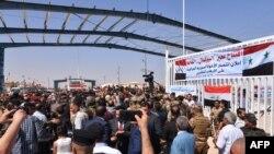 Открытие КПП на границе Сирии и Ирака, 30 сентября 2019 года.