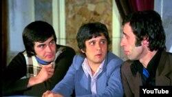 """Hababam Sınıfı"" filmindən bir kadr. Tarık Akan, Halit Akchatepe, Kemal Sunal."