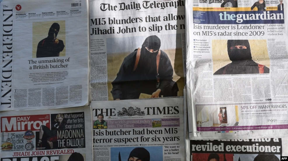 "A masked Islamic State militant known as ""Jihadi John"" was seen in videos beheading journalists in 2015."