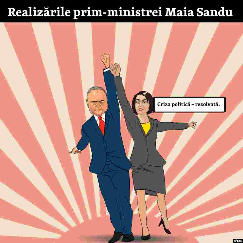 Maia Sandu s-a aliat cu fostul său rival pentru a scoate Moldova din criză.