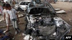 Իրաք - Բաղդադի Սադր Սիթի թաղամասում ռմբահարումից հետո, 16-ը ապրիլի,, 2012թ.