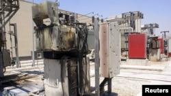 Следы перестрелок в одном из районов Дамаска