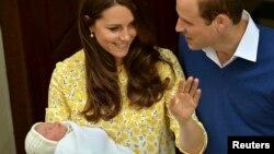 Kate dhe Villiam me vajzën e porsalindur