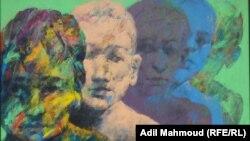 """لوحة من معرض """"تحويلة مؤقتة"""" للفنان تحسين الزيدي"""