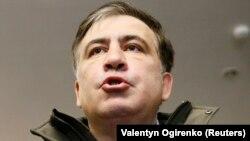 Керівник партії «Рух нових сил», екс-президент Грузії Міхеїл Саакашвілі під час відвідування Генеральної прокуратури України. Київ, 18 грудня 2017 року