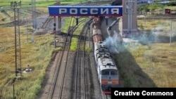 Российско-китайская граница со стороны Забайкальска, железнодорожный переход