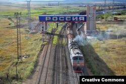 Участок границы России и Китая