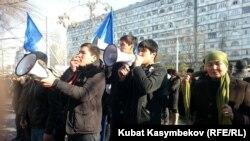 Протести во Бишкек