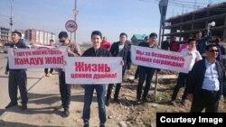 Бишкектеги автожарыштарга каршы нааразылык.