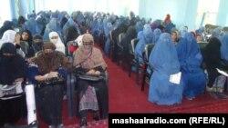 Кабул. Семинар для женщин-служащих на тему борьбы с домашним насилием