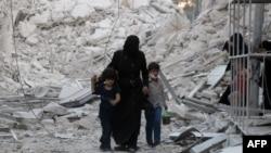 Алепа пасьля чарговага бамбаваньня. 23 верасьня 2016 году