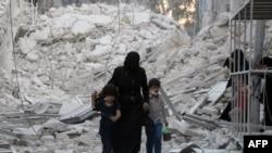 Алеппоның солтүстігіндегі әл-Муасалат ауданы. Сирия, 23 қыркүйек 2016 жыл.