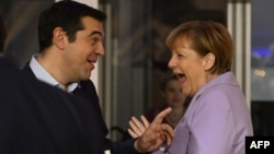 Angela Merkel și Alexis Tsipras