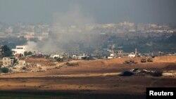 Газа -- Израил танктары Газа тилкесин курчап турат, 24-июль.