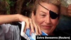 Мэри Колвин в Ливии в районе города Мисурата, 4 июня 2011