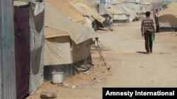 Лагерь сирийских беженцев в Иордании