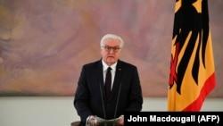 Președintele Frank-Walter Steinmeier la o conferință de presă, Berlin, 20 noiembrie 2017