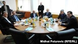Лидерите на шесте најголеми политички партии во БиХ.