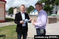 Віталь Рымашэўскі (зьлева) і Алесь Масюк