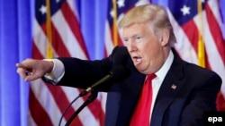 Дональд Трамп на пресс-конференции 11 января