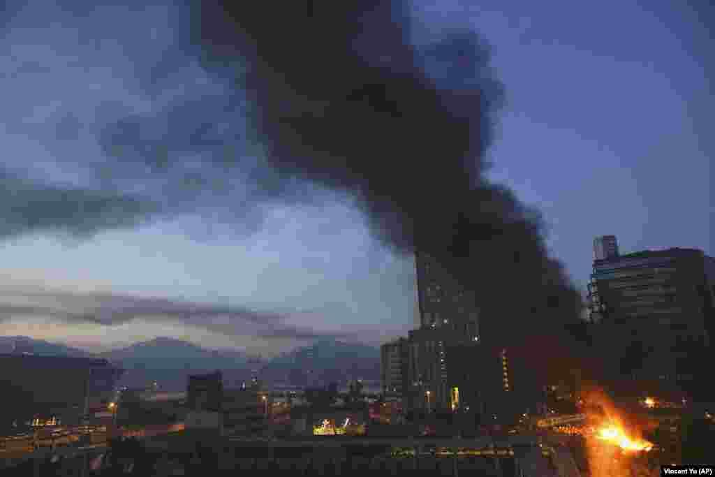Пожежа біля студентського містечка Гонконгського політехнічного університету, 18 листопада 2019 року