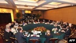 نشست گروه پنج به علاوه یک در لندن (عکس از AFP)