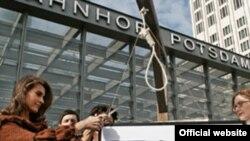 نازنین افشین جم در کارزار ضد اعدام نازنین فاتحی.